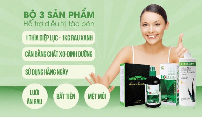 Bộ sản phẩm hỗ trợ điều trị chứng táo bón Việt Pháp