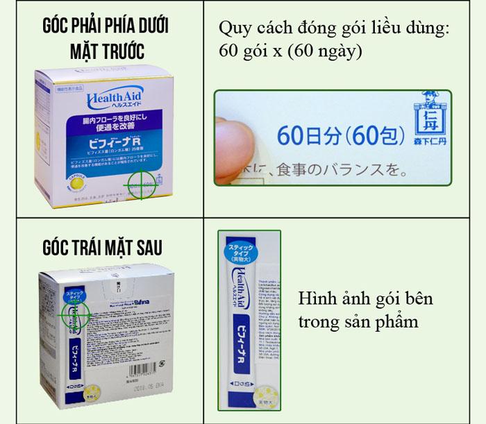 phân biệt Men vi sinh tiêu hóa Binifa cao cấp TC015 3