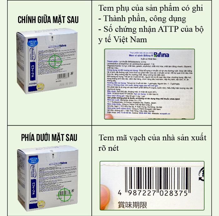 phân biệt Men vi sinh tiêu hóa Binifa cao cấp TC015 4