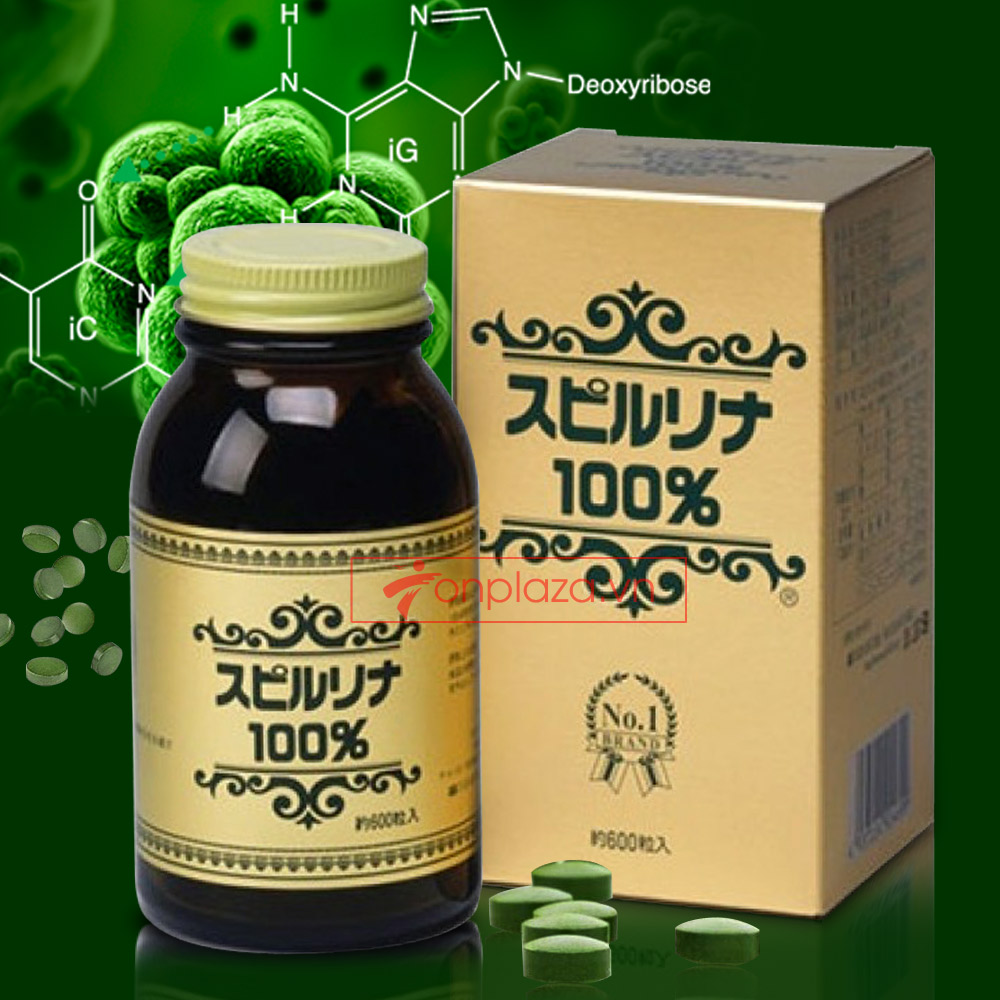 Tảo Spirulina số 1 Nhật Bản (Japan Algae)  (600viên/hộp) TC010