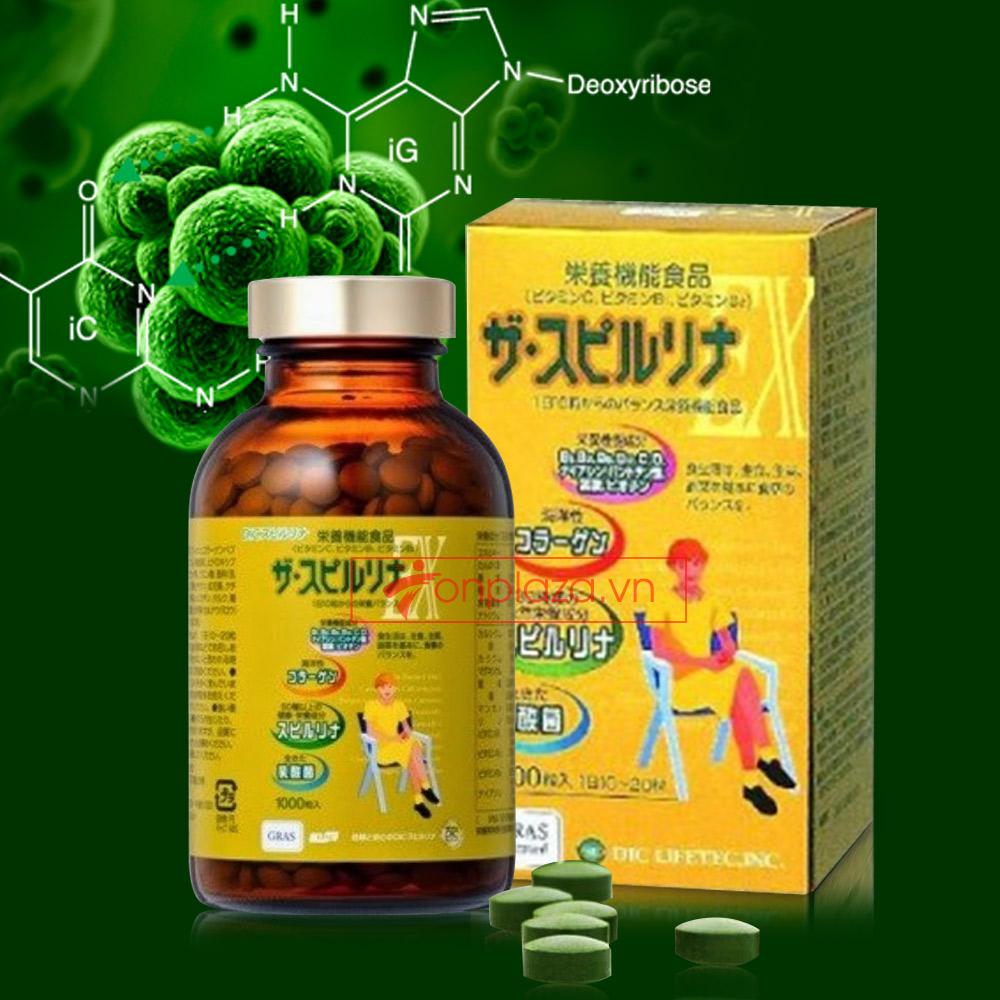 Tảo xoắn Spirulina EX Nhật Bản TC014
